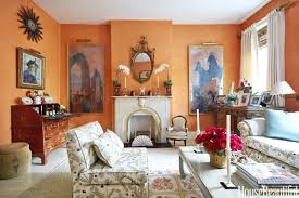 how to decorate living room walls shades of orange best orange paint colors