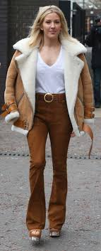 Style Ellie Goulding Ellie Goulding And The Shearling Jacket Trend Vogue