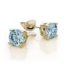 aquamarine stud earrings aquamarine stud earrings in 14k yellow gold 7mm