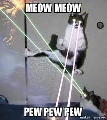 Pew Pew Pew Meme - meow meow pew pew pew make a meme