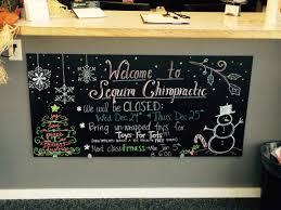 christmas chalk board art sequim chiropractic office chalk