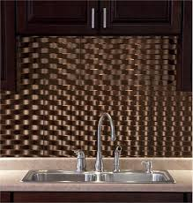 thermoplastic panels kitchen backsplash fasade backsplash weave style weave style in rubbed bronze
