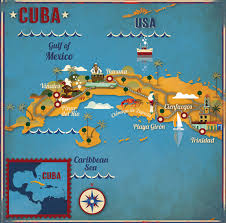 map usa lonely planet cuba illustrated map