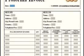 simple proforma invoice template sample invitations