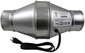air duct assist fan tjernlund dbm4 duct booster fan for 4 flex or metal duct 100 cfm
