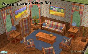 rustic country living room set found in tsr category u0027sims 2 room
