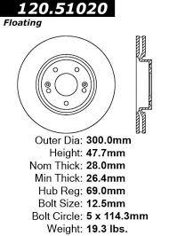 2007 hyundai sonata weight centric premium front pair brake rotors 2009 2010 hyundai sonata