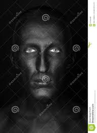 halloween background portrait gothic and halloween theme a man with black skin is isolated on a