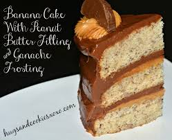 triple layer banana cake with peanut butter filling u0026 ganache