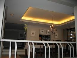 Tray Ceiling Dining Room - modern dining room with tray ceiling lighting also modern