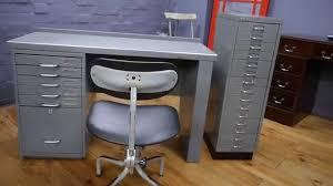 Bisley Filing Cabinet Vintage Industrial Metal Pedestal Desk Bisley Filing Cabinet
