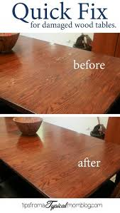 Quick Fix For Water Damaged Wood Dining Room Tables Wood Tables