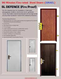 Fire Rated Doors With Glass Windows by Multi Lock Fire Proof Doors