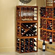 wine cabinets for home cube stack wine bottle stemware rack set walnut stain wine