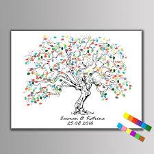 guest book sign in 1 set diy fingerprint tree guest book sign in book wedding party