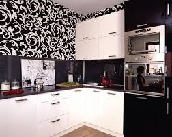 wallpaper in kitchen ideas white kitchen cabinets and modern wallpaper ideas for decorating