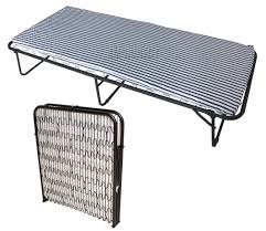 Metal Folding Bed Foxhunter Single Metal Folding Guest Visitor Compact Bed With