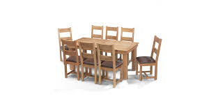 breton oak 180 cm dining table and 8 chairs lifestyle furniture uk