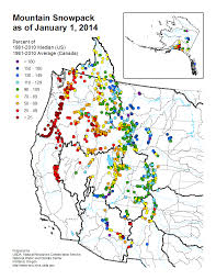 National Temperature Map Mountain Snowpack Map Western Us