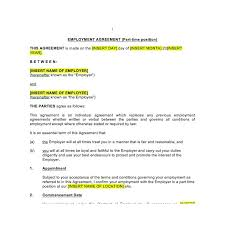 part time employment contract law4us contract templatecontract