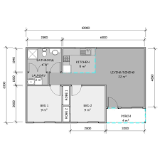 Granny Flat Floor Plan by Carey 2 Bedroom Granny Flat Quality Kit Homes