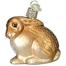 world cottontail bunny glass blown
