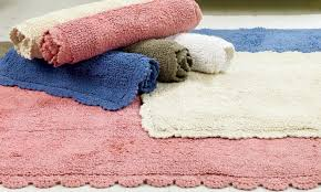 Cotton Bath Rugs Reversible Homesense Cotton Bath Rug Set Groupon Goods