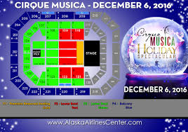 Alaska Airlines Map by Alaska Airlines Center