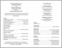wedding program layout template each wedding program templates template resume exles