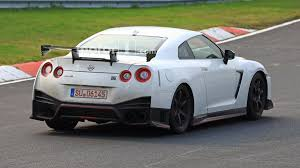 gtr nissan nismo nissan spied testing hotter gt r nismo with fender vents