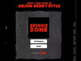 how to create our name as arjun reddy movie title font style with