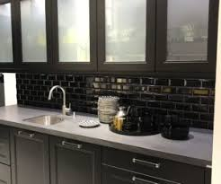 Cabinet Doors Winnipeg Kitchen Ideas Black Kitchen Cabinets With Subway Tiles And White