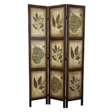 picture frame room divider shop oriental furniture botany 3 panel mocha wood folding indoor