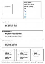 scarica curriculum vitae europeo da compilare gratis pdf modello curriculum da compilare modello curriculum