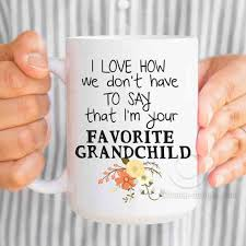 gifts for grandmothers favorite grandchild mug mothers day gift for birthday