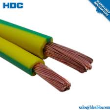 yellow green 1 50mm2 cu pvc flexible earth cable copper earthing