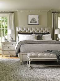 tufted headboard nailhead trim oyster bay sag harbor tufted upholstered bed lexington home brands