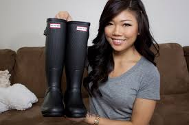 review hunter original ribbed wellington boots youtube