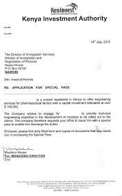 forwarding letter eregulations kenya