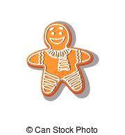 vector gingerbread cookie man eps vectors search clip art