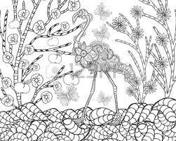 cute elephant in flower garden animals hand drawn doodle ethnic