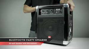 bluetooth party speakers with lights bluetooth party speaker monoprice quick look youtube
