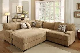 Corduroy Sectional Sofa Minnis Sectional Sofa In Brown Fabric By Homelegance