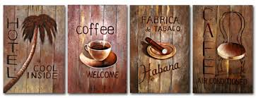 Free shipping the coffee shop decoration painting artwork with