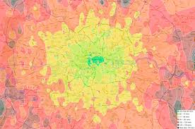 commute map revealed the postcodes for a commute now here