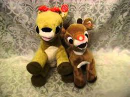 rudolph red nosed reindeer blinks music playing clarice plush