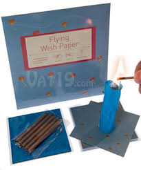 wishing paper flying wish paper write a wish light it on and it fly
