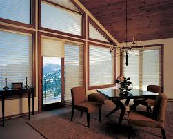 Hunter Douglas Window Treatments For Sliding Glass Doors - shades hunter douglas silhouette french doors angled contemporary diningroom jpg