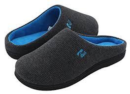 Bedroom Shoes For Womens Amazon Com Rockdove Women U0027s Two Tone Memory Foam Slippers