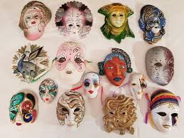 decorative masks beautiful lot of quince venetian painted ceramic decorative